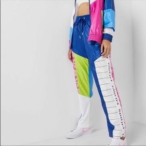 Nike NSW Color Block Snap Woven Track Pants S NWOT
